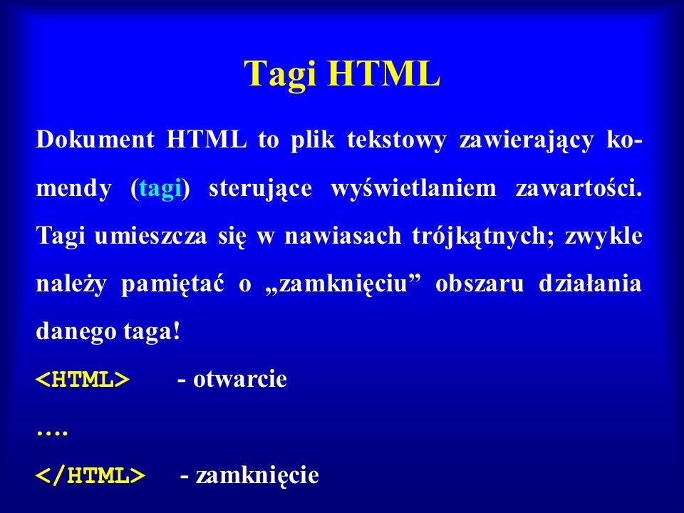 Tagi HTML