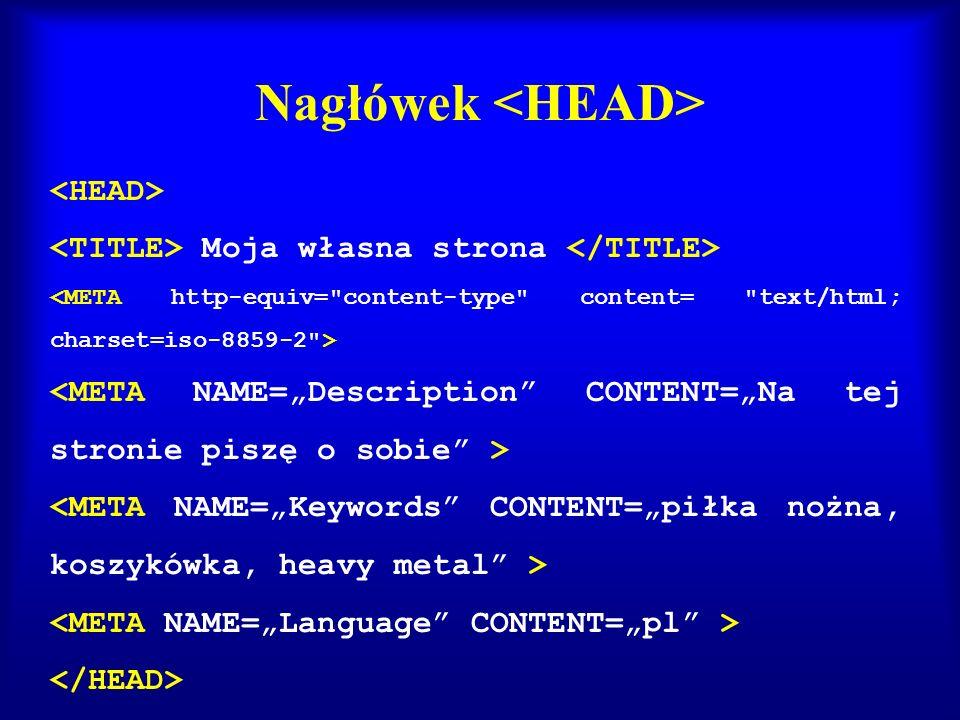 Nagłówek <HEAD>