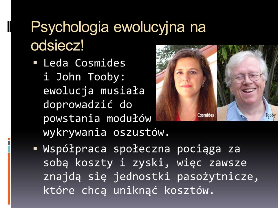 Psychologia ewolucyjna na odsiecz!