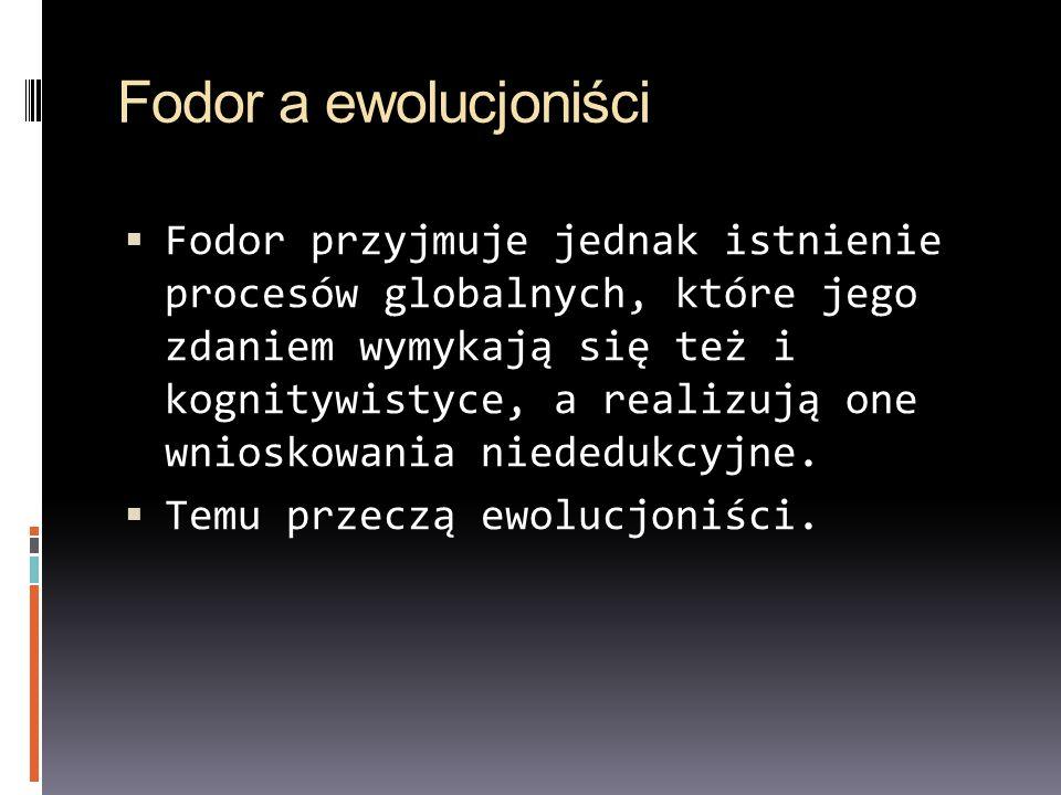 Fodor a ewolucjoniści