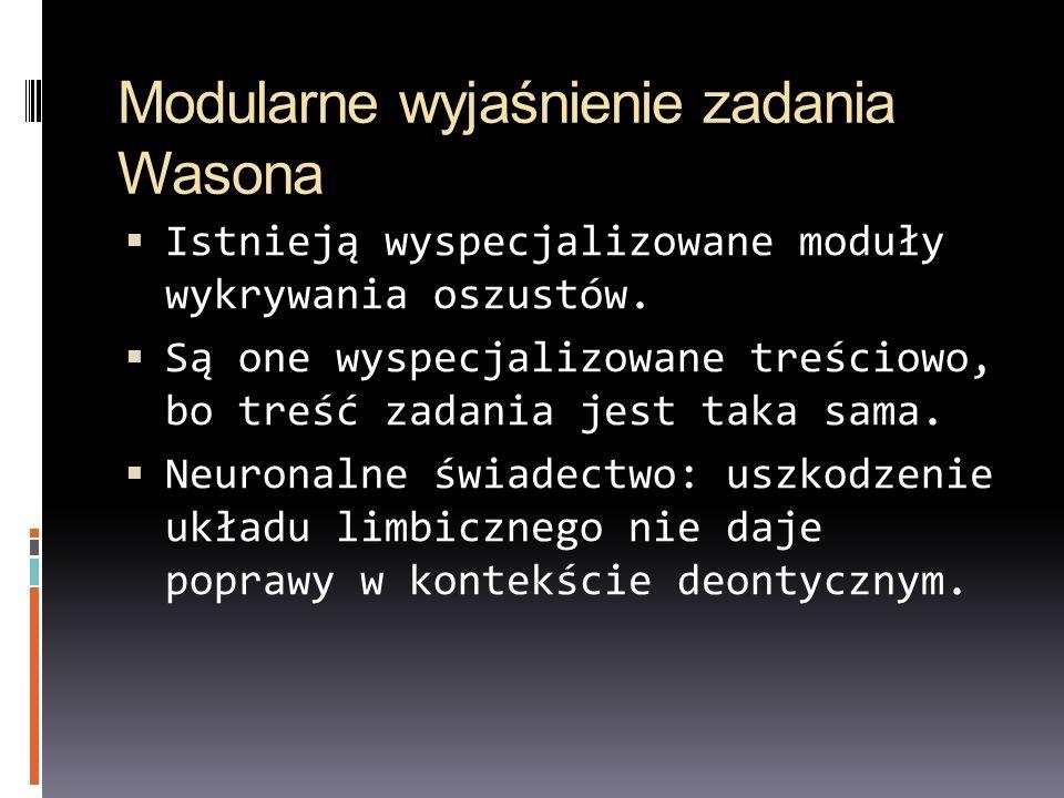 Modularne wyjaśnienie zadania Wasona
