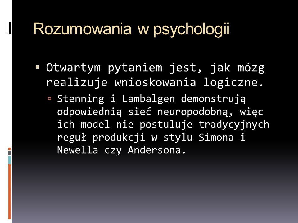 Rozumowania w psychologii