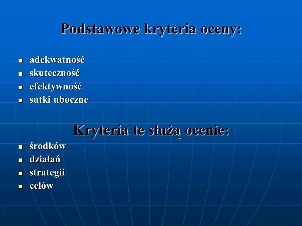 Podstawowe kryteria oceny: