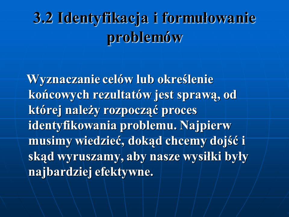 3.2 Identyfikacja i formułowanie problemów