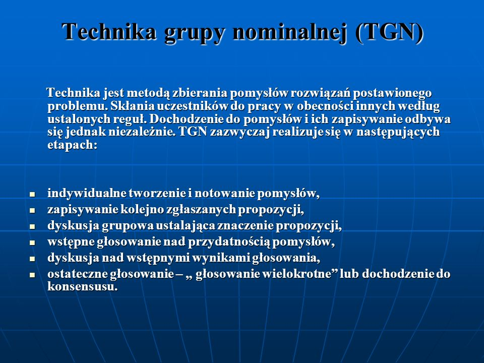 Technika grupy nominalnej (TGN)