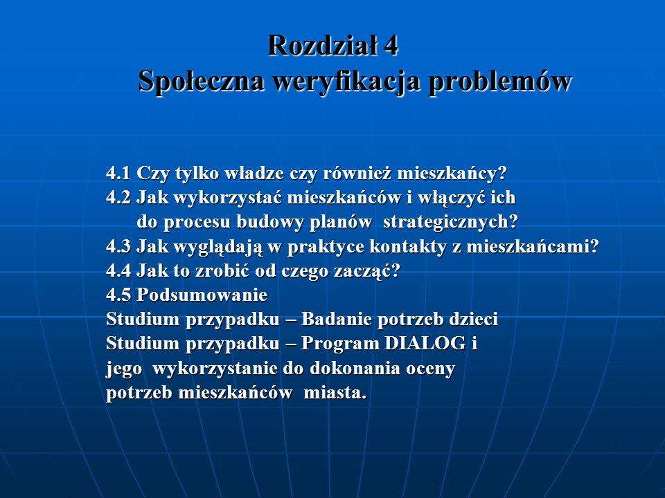 Rozdział 4 Społeczna weryfikacja problemów
