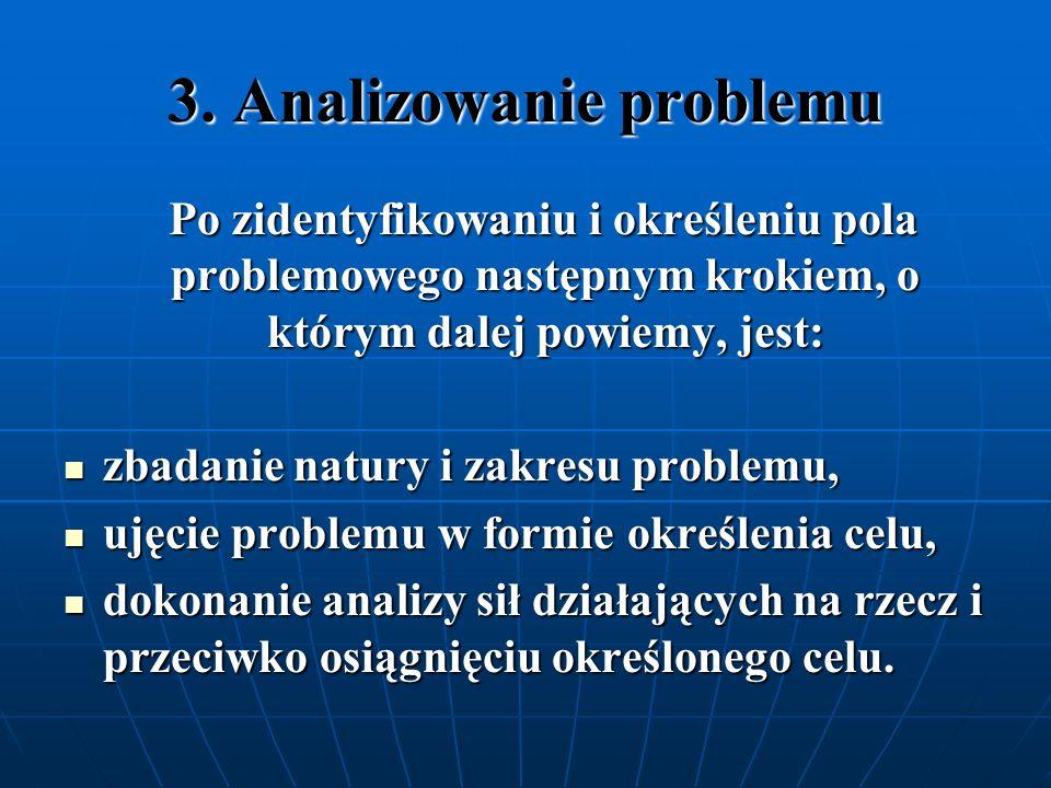 3. Analizowanie problemu