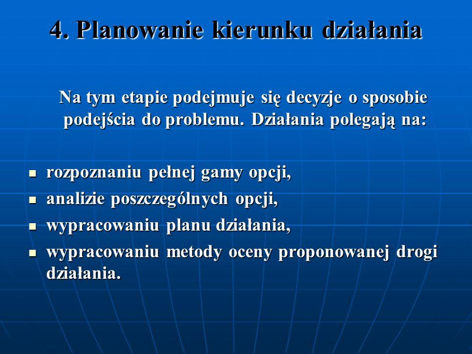 4. Planowanie kierunku działania