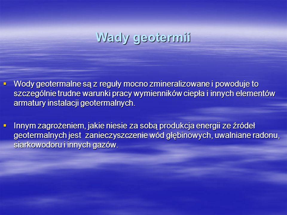 Wady geotermii