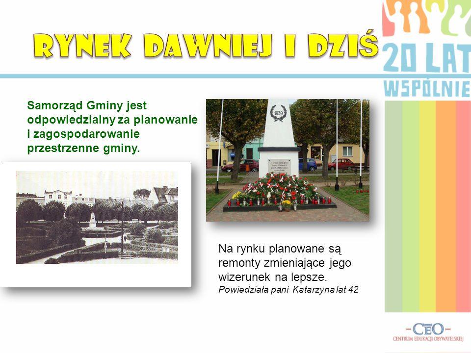 RYNEK DAWNIEJ I DZIŚ Samorząd Gminy jest odpowiedzialny za planowanie i zagospodarowanie przestrzenne gminy.