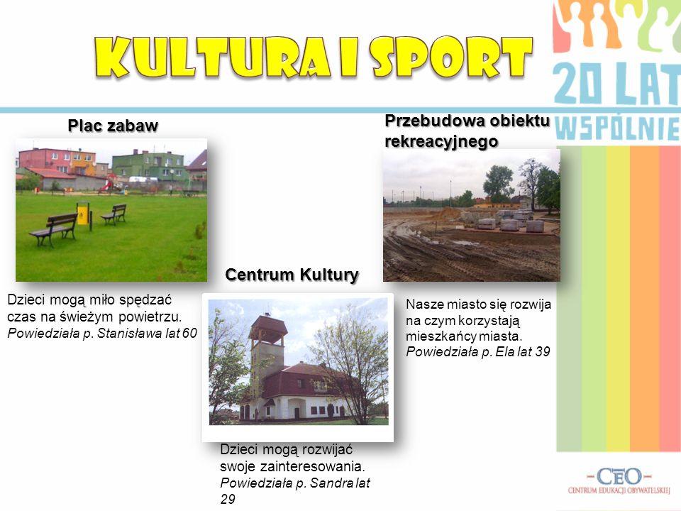 KULTURA I SPORT Przebudowa obiektu rekreacyjnego Plac zabaw