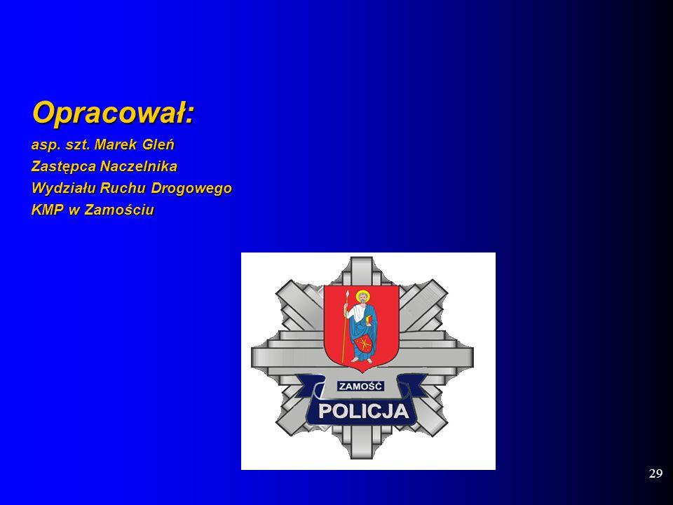 Opracował: asp. szt. Marek Gleń Zastępca Naczelnika Wydziału Ruchu Drogowego KMP w Zamościu