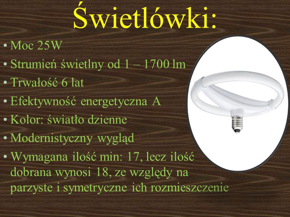 Świetlówki: Moc 25W Strumień świetlny od 1 – 1700 lm Trwałość 6 lat