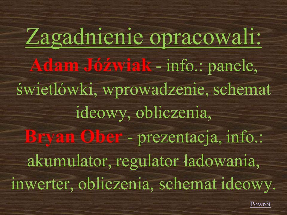 Zagadnienie opracowali: Adam Jóźwiak - info
