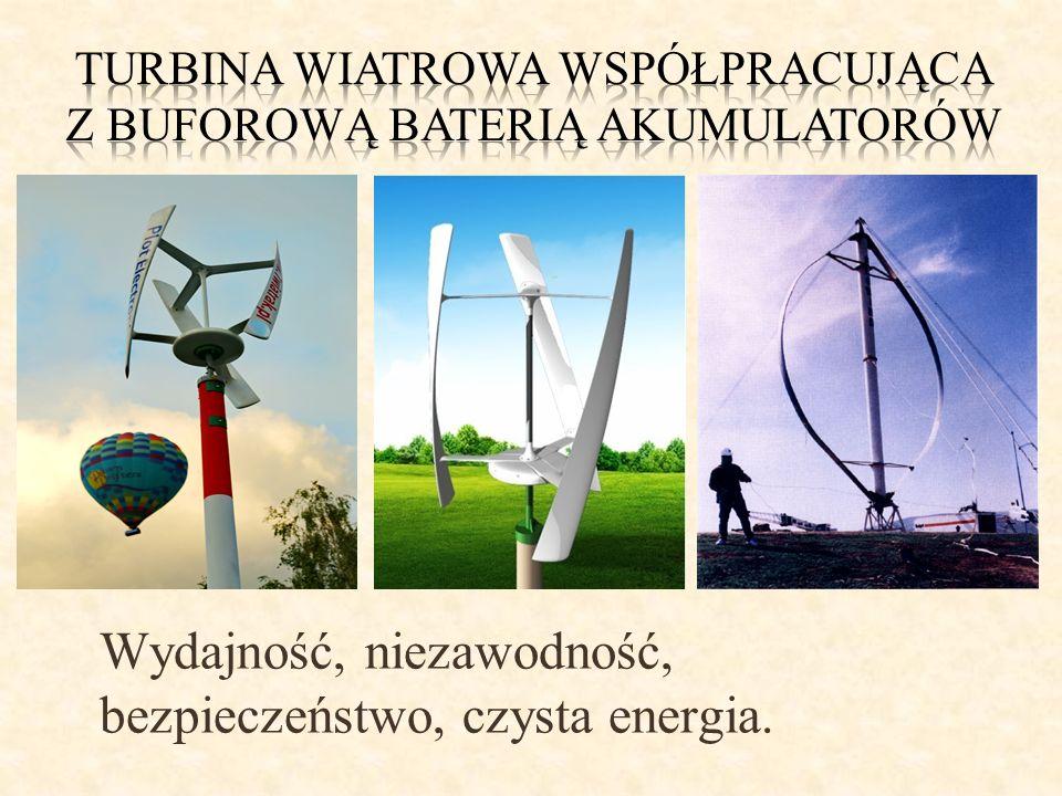 Turbina wiatrowa współpracująca z buforową baterią akumulatorów