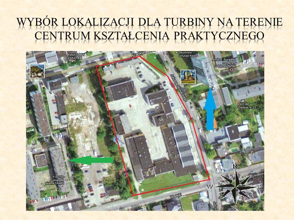Wybór lokalizacji dla turbiny na terenie centrum kształcenia praktycznego