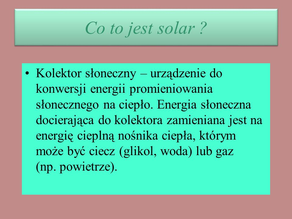 Co to jest solar