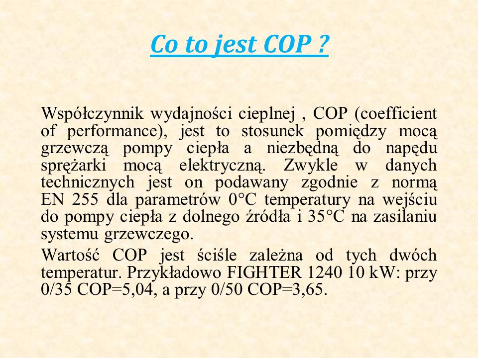 Co to jest COP