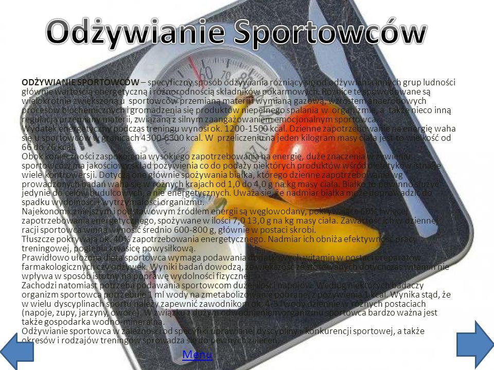 Odżywianie Sportowców