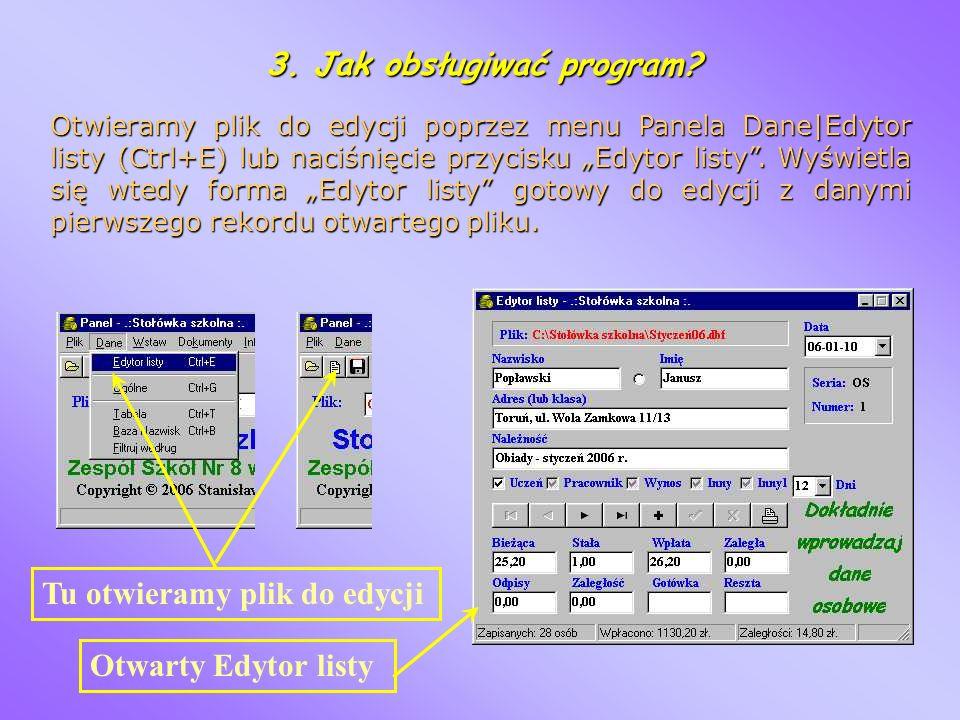 3. Jak obsługiwać program
