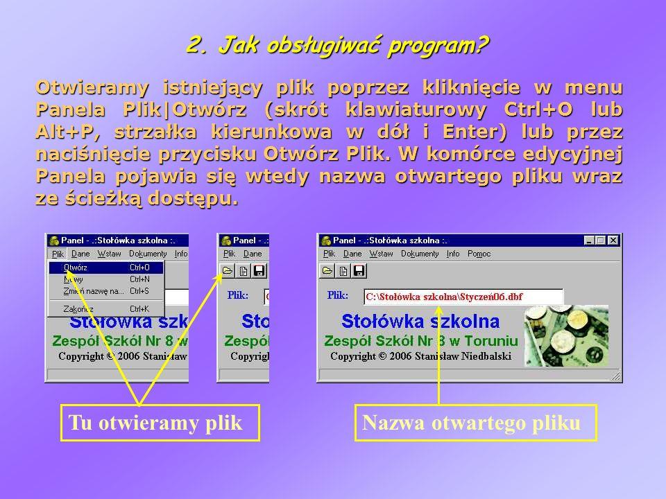 2. Jak obsługiwać program