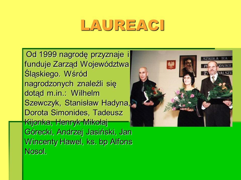 LAUREACI funduje Zarząd Województwa Śląskiego. Wśród