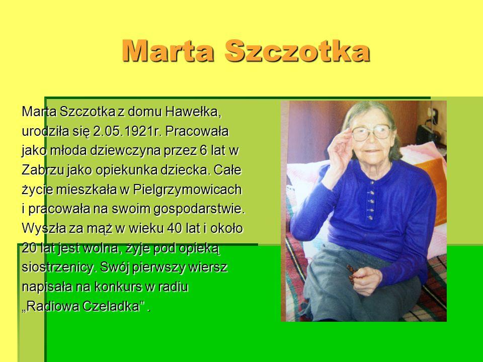 Marta Szczotka Marta Szczotka z domu Hawełka,