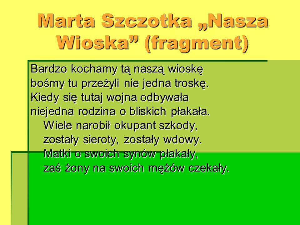 "Marta Szczotka ""Nasza Wioska (fragment)"
