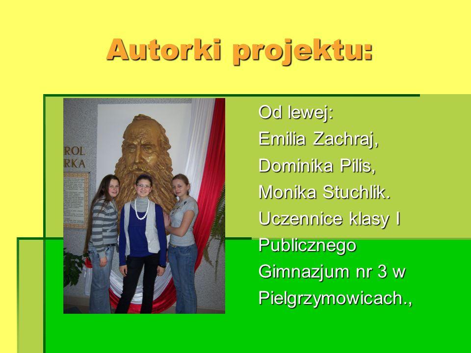 Autorki projektu: Od lewej: Emilia Zachraj, Dominika Pilis,