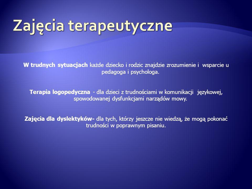 Zajęcia terapeutyczne