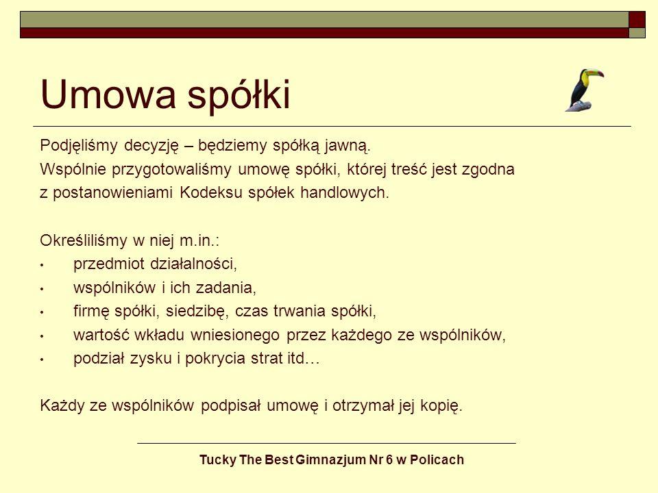 Tucky The Best Gimnazjum Nr 6 w Policach