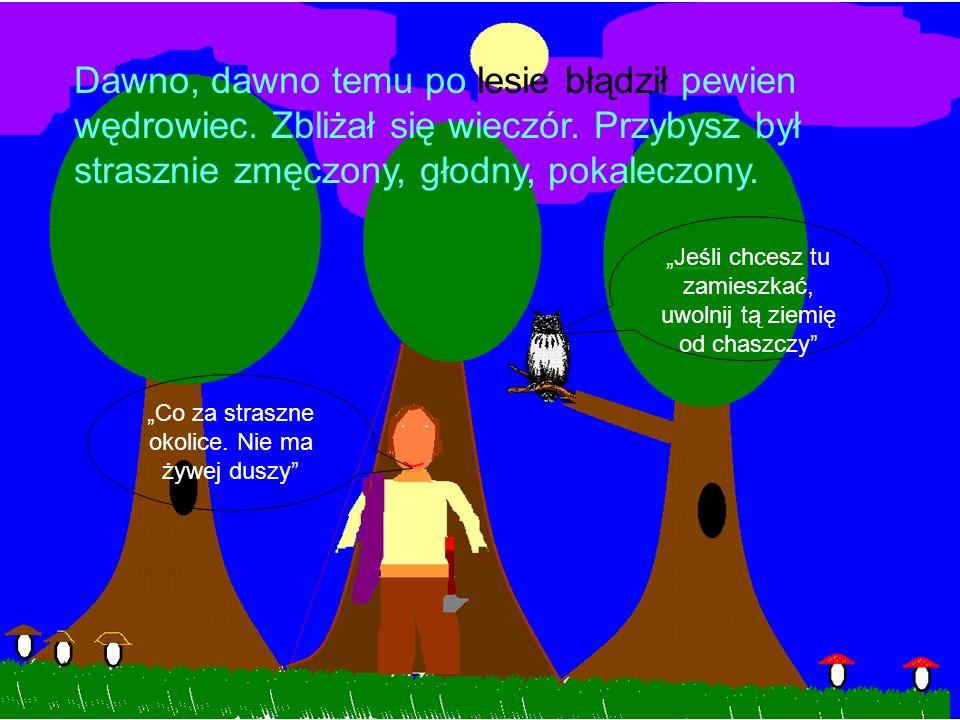 Dawno, dawno temu po lesie błądził pewien wędrowiec