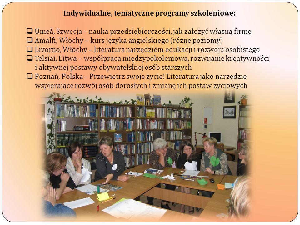 Indywidualne, tematyczne programy szkoleniowe: