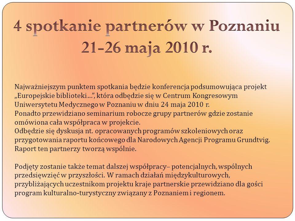 4 spotkanie partnerów w Poznaniu