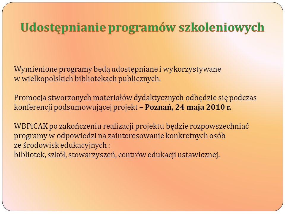 Udostępnianie programów szkoleniowych