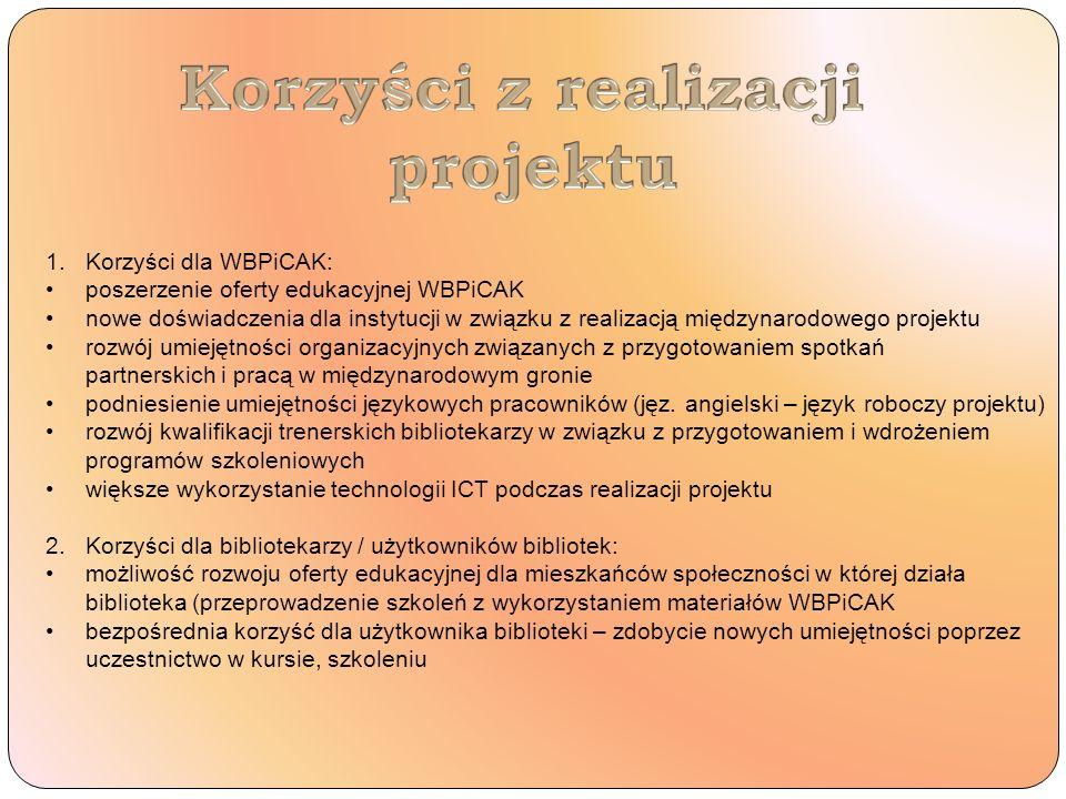 Korzyści z realizacji projektu