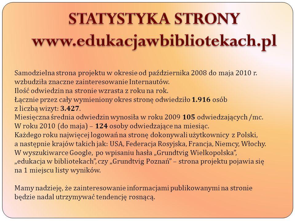 STATYSTYKA STRONY www.edukacjawbibliotekach.pl