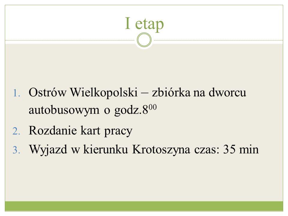 I etap Ostrów Wielkopolski – zbiórka na dworcu autobusowym o godz.800