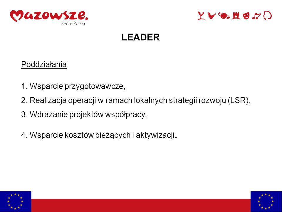 LEADER Poddziałania 1. Wsparcie przygotowawcze,