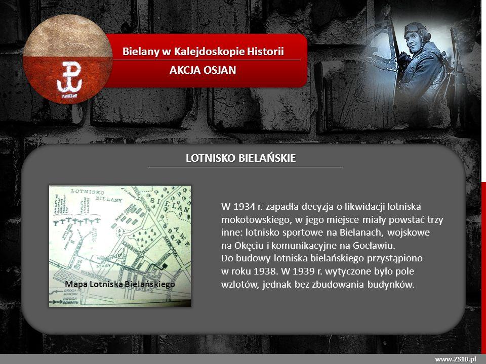 Bielany w Kalejdoskopie Historii Mapa Lotniska Bielańskiego