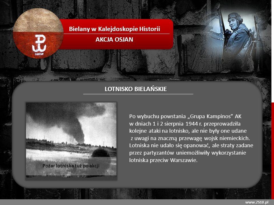 Bielany w Kalejdoskopie Historii Pożar lotniska tuż po akcji