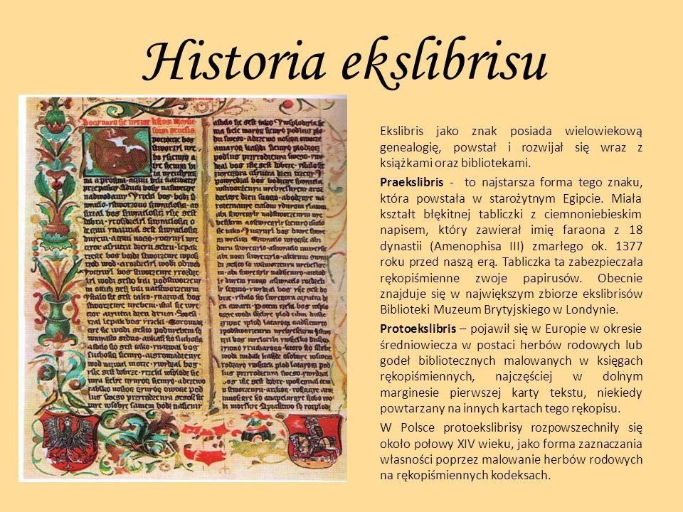 Historia ekslibrisu