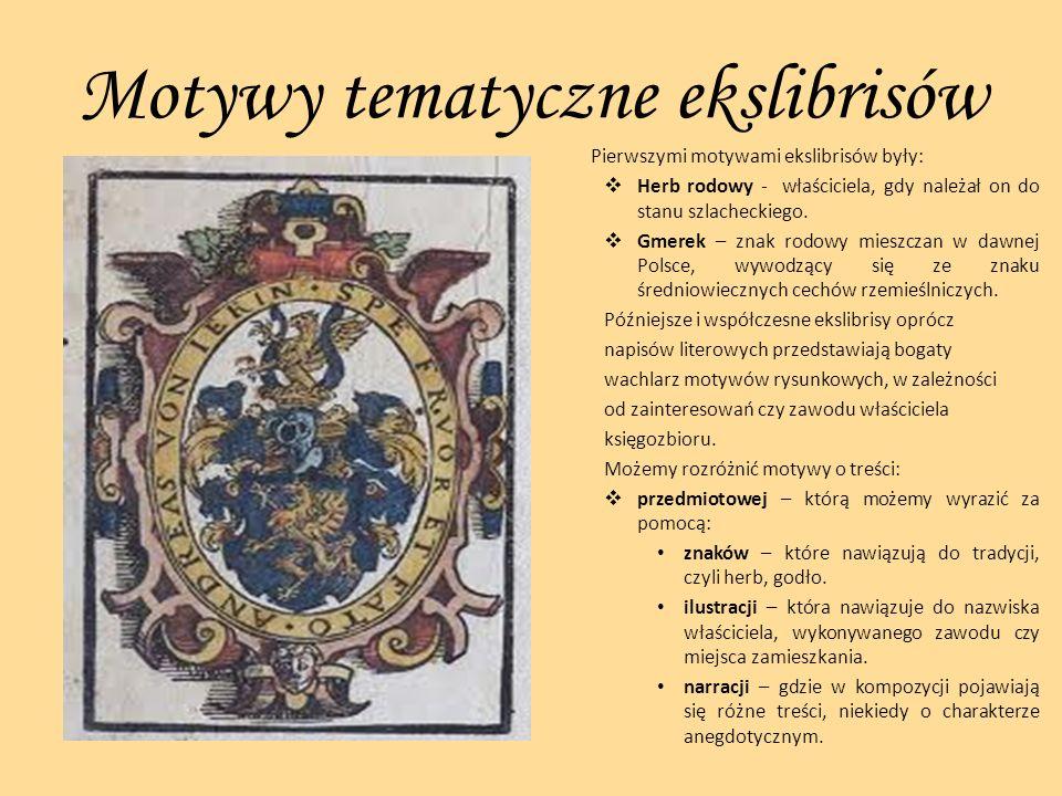Motywy tematyczne ekslibrisów