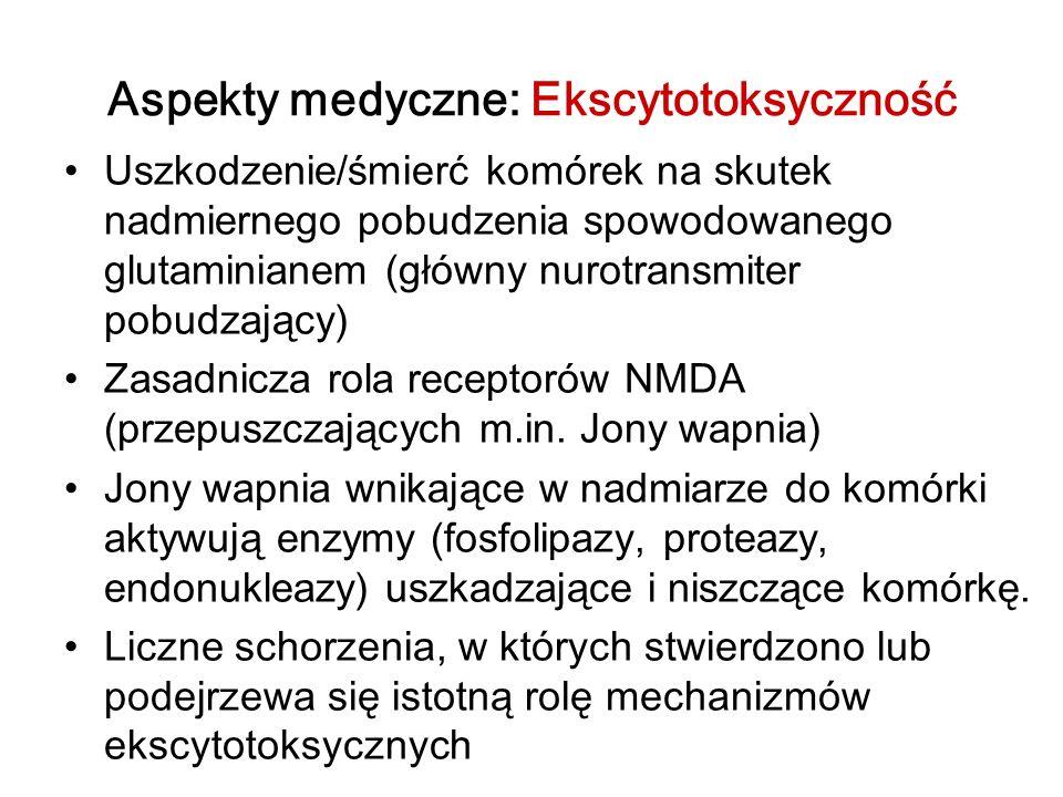 Aspekty medyczne: Ekscytotoksyczność