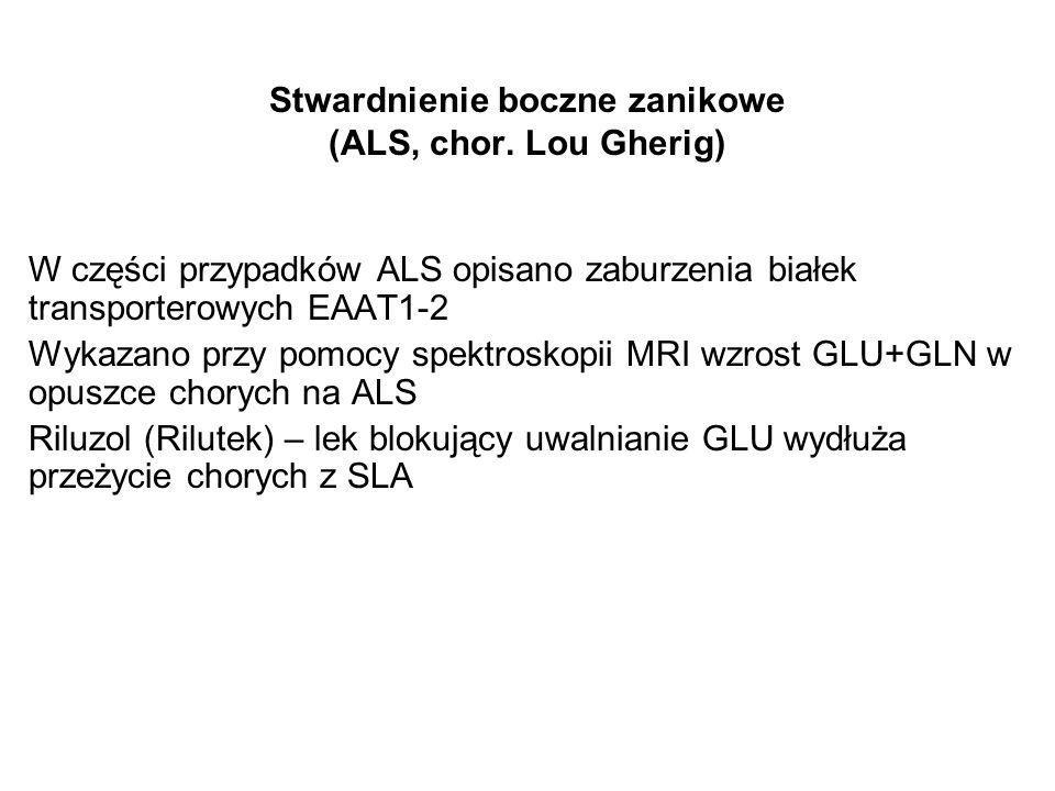 Stwardnienie boczne zanikowe (ALS, chor. Lou Gherig)