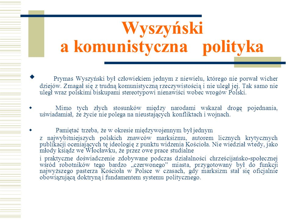 Wyszyński a komunistyczna polityka