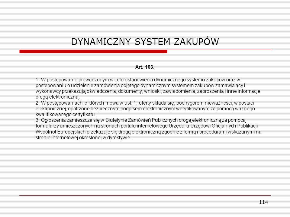 DYNAMICZNY SYSTEM ZAKUPÓW
