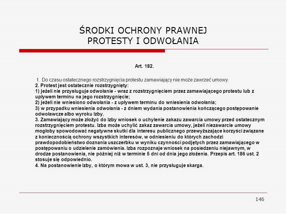 ŚRODKI OCHRONY PRAWNEJ PROTESTY I ODWOŁANIA