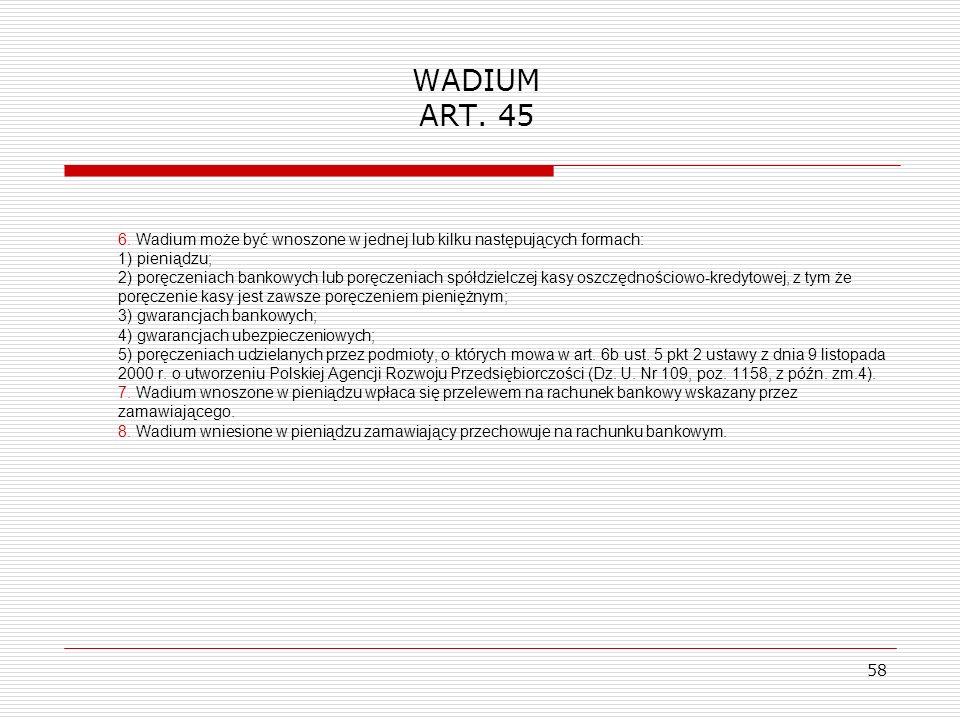 WADIUM ART. 45