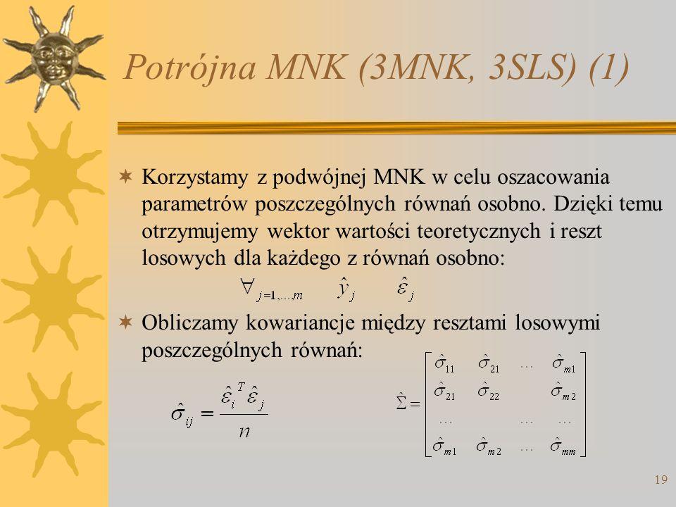Potrójna MNK (3MNK, 3SLS) (1)